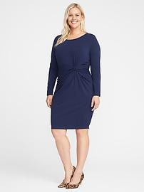 Twist-Front Plus-Size Bodycon Dress