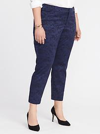 Pantalon Pixie lissant et affinant à jacquard, taille Plus