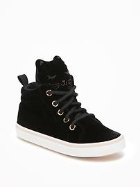 Velvet Critter High-Top Sneakers for Toddler Girls