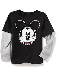 Disney&#169 Mickey Mouse 2-in-1 Graphic Tee for Toddler Boys