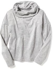 Sweater-Fleece Funnel-Neck Top for Girls