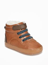 Sherpa-Trim Boots for Baby