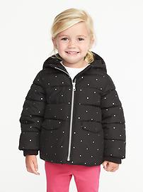 Frost-Free Hooded Jacket for Toddler Girls
