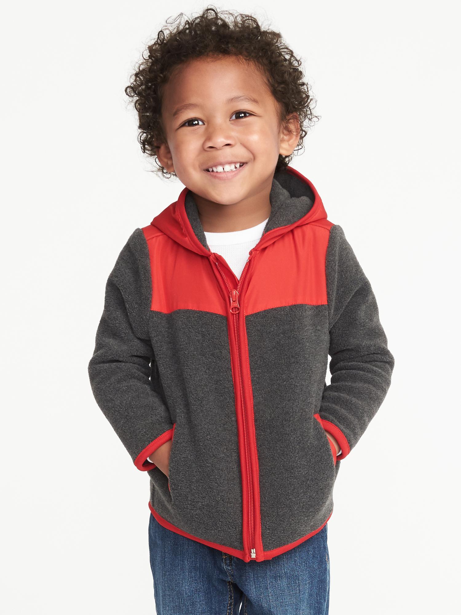 6516e1f141dd Color-Block Micro Fleece Jacket for Toddler Boys