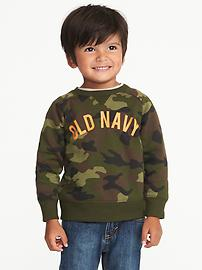 Camo Logo Sweatshirt for Toddler Boys