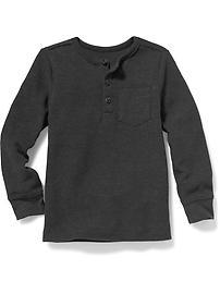 Henley en tricot isotherme pour tout-petit garçon
