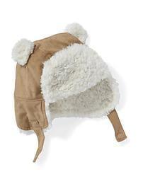 Tuque de trappeur au fini suédé doublée en sherpa pour bébé