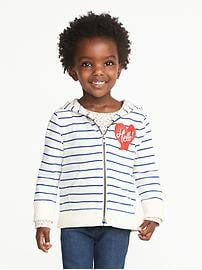 """""""Hello!"""" French-Terry Zip Hoodie for Toddler Girls"""
