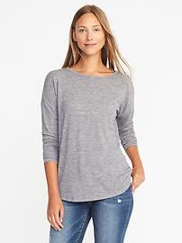 Loose Sweater-Knit Jersey Top
