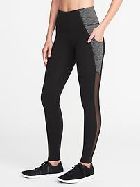 High-Rise Side-Pocket Compression Leggings for Women