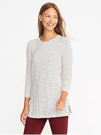 Long & Lean Luxe Crew-Neck Tunic for Women