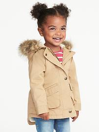 Hooded Field Jacket for Toddler Girls