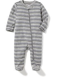 Striped Footed Sleeper for Baby