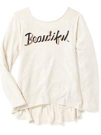 Graphic Hi-Lo Swing Tee for Girls