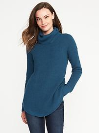 Textured Turtleneck Tunic for Women