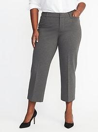 Pantalon à la cheville en tricot en point affinant et lissant, taille Plus