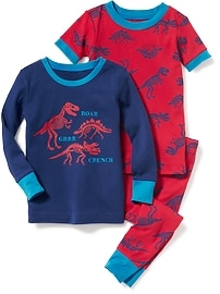Dinosaur-Graphic 3-Piece Sleep Set for Toddler & Baby