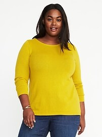Plus-Size Classic Crew-Neck Sweater