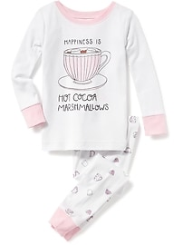 2-Piece Hot Cocoa Graphic Sleep Set for Toddler & Baby