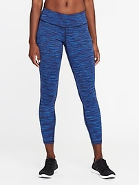 Mid-Rise 7/8-Length Space-Dye Leggings for Women