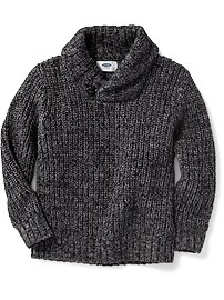 Shawl-Collar Sweater for Toddler Boys
