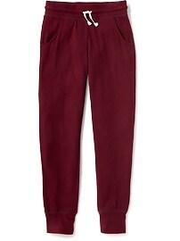 Pantalon d'entraînement en tricot brossé pour fille