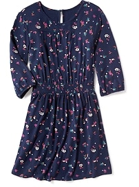 Floral Smocked-Waist Dress for Girls