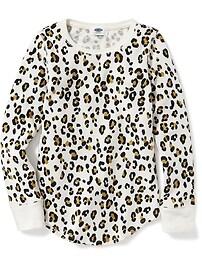 T-shirt isotherme à col échancré pour fille