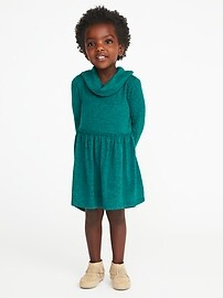 Fit & Flare Cowl-Neck Dress for Toddler Girls