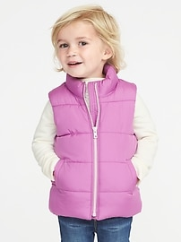Frost-Free Vests for Toddler Girls