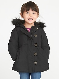 Frost-Free Toggle Coat for Toddler Girls