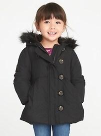 Manteau Frost-Free avec boutons en bâtonnet pour toute-petite