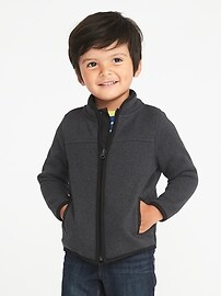 Sweater-Fleece Zip Jacket for Toddler Boys