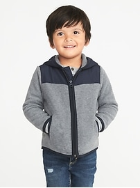 Color-Block Micro Fleece Jacket for Toddler Boys