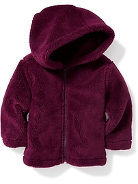 Plush Micro Performance Fleece Hooded Jacket for Baby