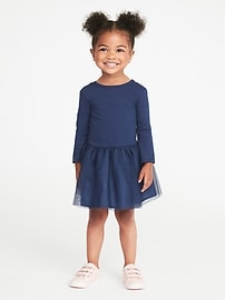 Scoop-Back Tutu Dress for Toddler Girls