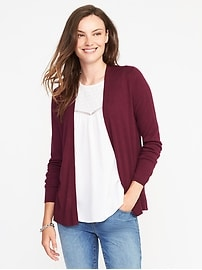 Semi-Fitted Open-Front Sweater for Women