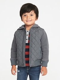 Quilted Performance Fleece Jacket for Toddler Boys