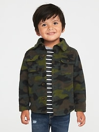 Micro Fleece Shirt Jacket for Toddler Boys