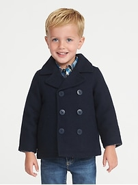 Classic Wool-Blend Peacoat for Toddler Boys