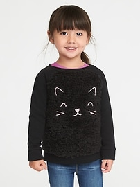 Cozy Critter Sweatshirt for Toddler Girls