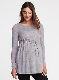 Maternity Cinched-Waist Tunic