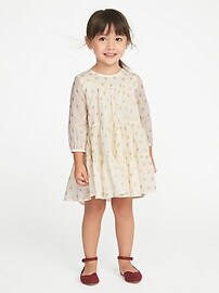 Tiered Sparkle Dress for Toddler Girls