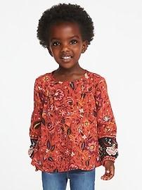 Printed Boho Top for Toddler Girls