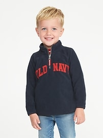 Logo Performance Fleece 1/4-Zip Pullover for Toddler Boys