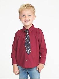 Ensemble chemise habillée et cravate pour tout-petit garçon