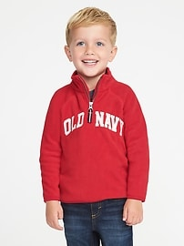 Logo Performance Fleece 1/4-Zip Pullover for Toddler Boys