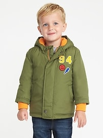 Embroidered-Patch Jacket for Toddler Boys