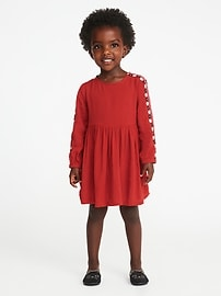 Embroidered Dress for Toddler Girls
