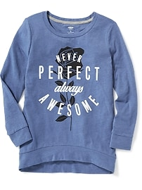 Relaxed Graphic Cocoon Tunic for Girls